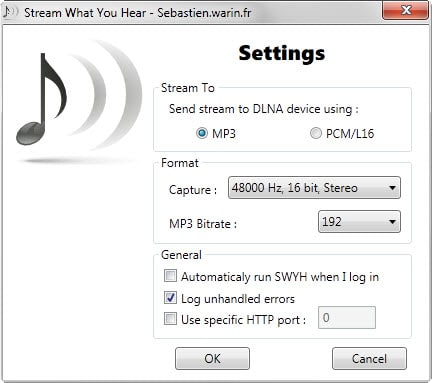 3 Ways To Stream What You Hear (Sayh) – Stream the Sound from your PC to an UPnP/DLNA device